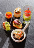 Canape food — Stock Photo