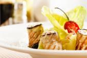 Eggplant rolls dish — Стоковое фото
