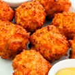 Cheese balls with sauce — Stock Photo #60285397