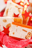 Christmas sweets with nougat — Stock Photo