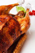 Roasted turkey with raspberry — Stock Photo