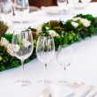 Wine glasses on table — Stock Photo #60623479