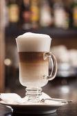 Glass of Latte macchiato — Stock Photo