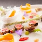 Molecular dish on plate — Stock Photo #60999927