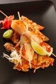 Skewered Scallop with Vegetables — Foto de Stock