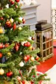 Christmas tree with  balls — Стоковое фото