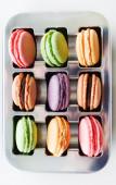 Macarons franceses coloridos — Foto de Stock