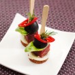 Canape with sticks on plate — Stock Photo #61500709