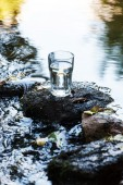 Glass of clean water — Stock Photo