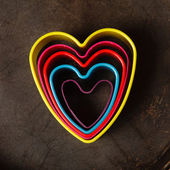 Color heart cutters — Stock Photo