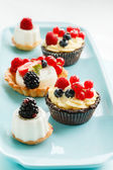 Вкусные пироги ягоды — Стоковое фото