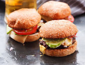 Home made burgers — Stock Photo