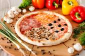 Supreme Pizza on table — Stock Photo