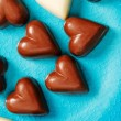 Chocolate hearts candies — Stock Photo #62101095