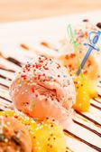 Funny colorful ice cream — Stock Photo