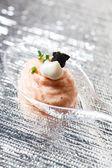 Salmon pate in spoon — Foto Stock