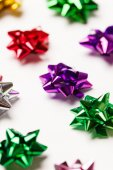 Colorful shining bows — Stock Photo