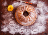 Marble cake with cocoa — Stock Photo