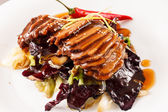 Roasted duck meat — Stock Photo