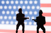 American toy soldiers — Stock Photo