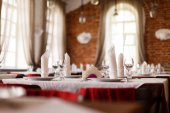Table set for party — Stock Photo