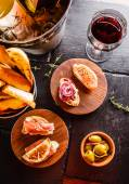 Spanish dinner on the table — Foto Stock