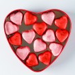 Heart box with heart candies — Stock Photo #62825211