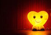 Happy heart lamp — Stock Photo