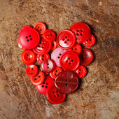 Sewing buttons heart — Stock Photo