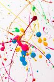 Salpicos de tinta brilhante colorido — Fotografia Stock