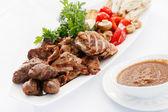 Aperitivo de carne con verduras — Foto de Stock