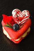 Valentine's Day macaroon — Stock Photo