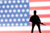 Soldado de juguete americano — Foto de Stock