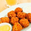 Cheese balls with sauce — Stock Photo #64235713