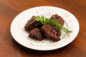 Grilled meat on plate — Stock Photo