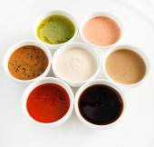 Different kinds of sauces — Stock Photo