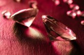 Different diamonds with red light — Stok fotoğraf