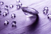 Different diamonds with purple light — Foto de Stock