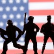 American toy soldiers — Stock Photo #66082993