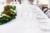 Table set at restaurant — Stock Photo