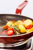 Roasted vegetables with rosemary — Stock Photo