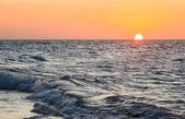 Sunset sky over ocean — Stock Photo