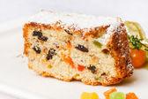 Christmas cake with raisins — Stock Photo