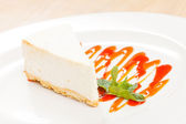 Cheesecake with strawberry caramel — Foto de Stock