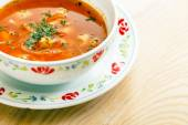 Soup with vegetables and meat — Stock Photo