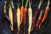 Roasted colorful carrots — Stock Photo