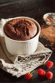 Tasty chocolate souffle — Stock Photo