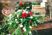 Wedding floral decoration — Stock Photo