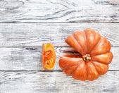Fresh orange pumpkin — Stock Photo