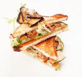 Tasty vegetarian sandwiches — Stock Photo